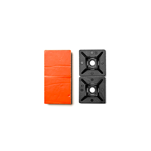 ".50"" Adhesive-Backed Mounting Bases (Black) CP-AM50-B"