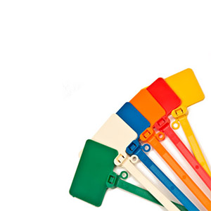 Mid-Size Blank Flag Cable Tie Markers