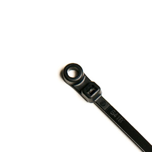 "5"" Mounted Head Cable Ties (40 lb.) (Black) CP-5-40MH-B"